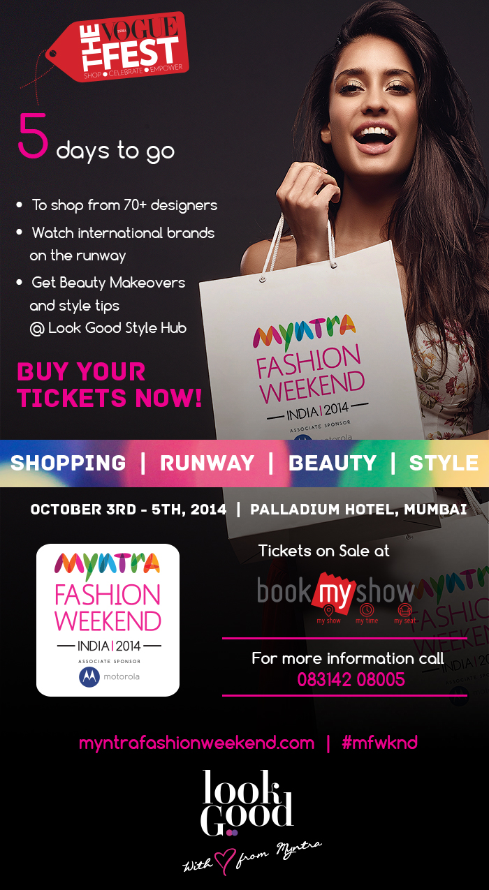 MYNTRA FASHION WEEKEND